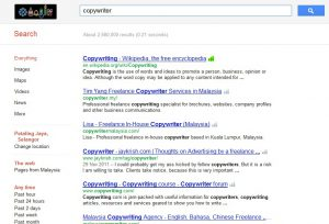 Copywriter Search Google